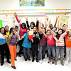 F. BRIAN FERGUSON/THE REGISTER-HERALD=Debbra Black's Beckley Elementary 5th Grade class celebrated being the top class at the school in raising money for residents of Newtown. The school raised over $1,000 in total for the cause.