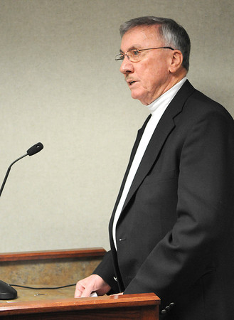 Doug Epling Speaks during the Raleigh County Commission meeting.<br /> Rick Barbero/The Register-Herald