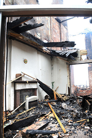 Inside view of the brick row appartments on Temple Street in Hinton.<br /> Rick Barbero/The Register-Herald