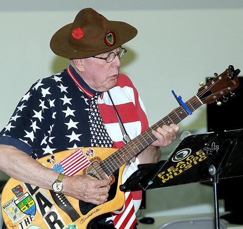 F. BRIAN FERGUSON/THE REGISTER-HERALD=The Earl of Elkview was on hand to play some tunes during the Glenville State College West Virginia Veterans Legacy Program at the Beckley VA during a Thursday afternoon program.