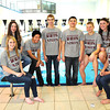 Woodrow Wilson swim team. Pictured from left, Shannon Underwood, Isabella Bailey, Miguel Carunungan, Dyan Smith, Justice Conte, Trevor Saoretz, Alexis Simpson, Lauren Shelton, and not pictured, Haley Cales.<br /> Rick Barbero/The Register-Herald
