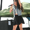 Sarah Centerno sings before the 3 Doors Down concert during the National Boy Scout Jamboree Saturday evening at the new Summit Bechtel Family National Scout Reserve near Glen Jean, WV<br /> Rick Barbero/The Register-Herald