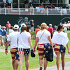 John Daly fans walking on the 17th hole during the first round of The Greenbrier Classic Thursday on the Old White TPC Course at The Greenbrier Resort in White Sulphur Springs.<br /> Rick Barbero/The Register-Herald