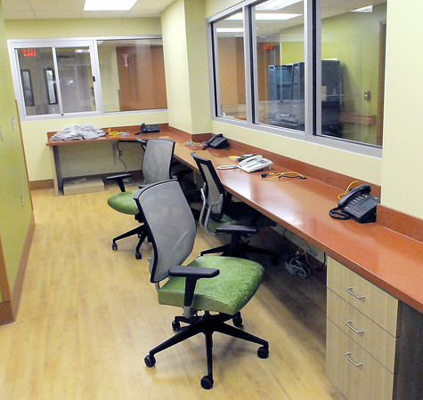 The nurses station of the newly renovated 4th floor of BARH. F. Brian Ferguson/The Register-Herald