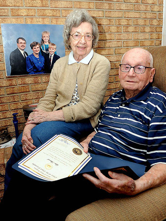 "Arna Mae and Levi ""Al"" Almond, of Daniels.<br /> Rick Barbero/The Register-Herald"