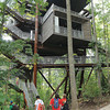 Sustainability treehouse at the Boy Scout at the new Summit Bechtel Family National Scout Reserve near Glen Jean, WV<br /> Rick Barbero/The Register-Herald