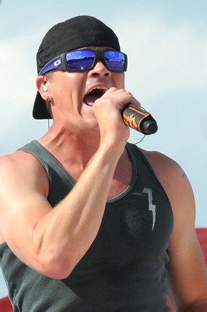 3 Doors Down perform for scouts during the National Boy Scout Jamboree Saturday evening at the new Summit Bechtel Family National Scout Reserve near Glen Jean, WV<br /> Rick Barbero/The Register-Herald