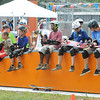 Scouts taking a break at the Summit Center Skate Park during the National Boy Scout Jamboree Monday morning at the new Summit Bechtel Family National Scout Reserve near Glen Jean, WV<br /> Rick Barbero/The Register-Herald