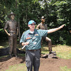 Wayne Perry, national president, speaks after unveiling statues of, Bob Mazzuca, Jack Forst, U.S. senator Joe Manchin and himself during the opening ceremony of the The Boy Scouts of America National Jamborree at the new Summit Bechtel Family National Scout Reserve in Mt. Hope.<br /> Rick Barbero/The Register-Herald