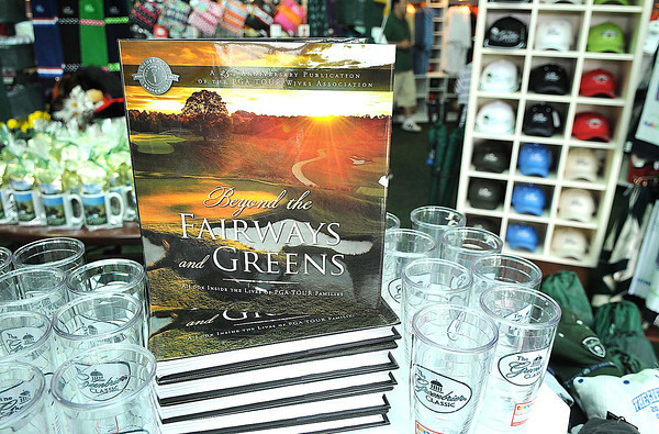 Beyound the Fairways and Greens book at the merchandise will be forsale during The Greenbrier Classic.<br /> Rick Barbero/The Register-Herald