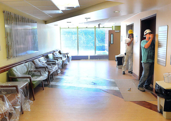 Final details were being completed on Tuesday for the lobby of the newly renovated 4th floor of BARH. F. Brian Ferguson/The Register-Herald