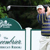 Tommy Gainey hits his tee shot on the par 5 12th hole during the first round of The Greenbrier Classic Thursday on the Old White TPC Course at The Greenbrier Resort in White Sulphur Springs.<br /> Rick Barbero/The Register-Herald