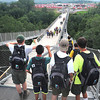Scouts checking out the view from the Consol Energy Bridge during the  National Boy Scout Jamboree Monday morning at the new Summit Bechtel Family National Scout Reserve near Glen Jean, WV<br /> Rick Barbero/The Register-Herald