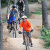 Scouts on the BMX cross country trail during the National Boy Scout Jamboree Monday morning at the new Summit Bechtel Family National Scout Reserve near Glen Jean, WV<br /> Rick Barbero/The Register-Herald