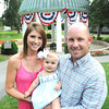 Scott Brown with his wife Allison and daughter Elly at The Grenbrier Classic.<br /> Rick Barbero/The Register-Herald