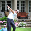 Phil Mickelson,  hits his tee shot on the 4th during The Greenbrier Classic Pro-Am held on the Old White course Wednesday afternoon.<br /> Rick Barbero/The Register-Herald