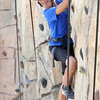 Wataru Hayahi, troop C213, of Hawaii, rock climb during the Boy Scout Jamboree Friday morning at the new Summit Bechtel Family National Scout Reserve near Glen Jean, WV<br /> Rick Barbero/The Register-Herald