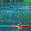 Boy Scouts canoeing Wednesday morning during the National Scout Jamboree at the new Summit Bechtel Family National Scout Reserve in Mt. Hope, WV<br /> Rick Barbero/The Register-Herald