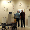 "Guests enjoyed Friday's Opening of the Beckley Art Group's ""Book Theme"" exhibit.. F. Brian Ferguson/The Register-Herald"