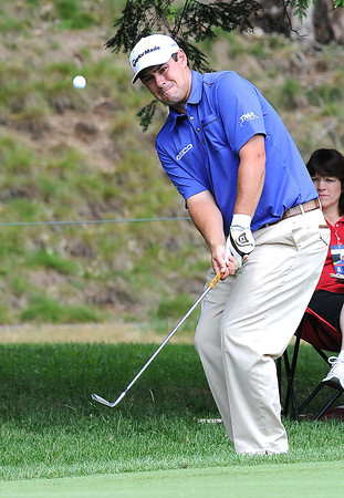 Johnson Wagner chipped in for eagle on the par 5 12th hole during the first round of The Greenbrier Classic Thursday on the Old White TPC Course at The Greenbrier Resort in White Sulphur Springs.<br /> Rick Barbero/The Register-Herald