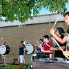 Birds of a Feather=The Woodrow Wilson Flying Eagle Drumline took their practice outdoors to enjoy a sunny Monday afternoon on their campus. They will take their show on the road in support of the football team on August 30th when the Flying Eagles travel to play Winfield. (From left), Tai Ingram, Garrett Weaver, Christian Bryant, Autumn Prout, Jacob Pitt, Austin Lawson, and Justin Conte. F. Brian Ferguson/The Register-Herald