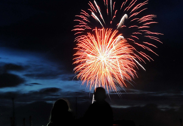The July 4th sky was full of color in Beckley as area residents set atop their cars to take in the show F. Brian Ferguson/The Register-Herald