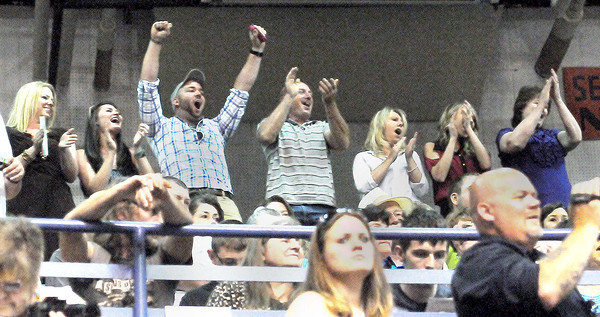 Independence High School parents cheered on their children during graduation at the Beckley-Raleigh County Convention Center. F. Brian Ferguson/The Register-Herald