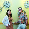Anna Ziegler, left, and Russ Barbour, right, were on hand for the screening of Barbour's documentary on the New River on Thursday evening at the Ritz in Hinton F. Brian Ferguson/The Register-Herald