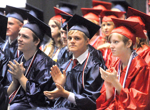 Independence High School students get ready to go out into the world before graduation at the Beckley-Raleigh County Convention Center. F. Brian Ferguson/The Register-Herald