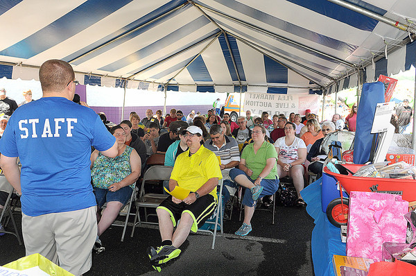 The auction got into full gear during Saturday's  NIE Auction and Flee Market at the Beckley Galleria. F. Brian Ferguson/The Register-Herald