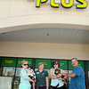 "(From left), Peggy Prater holding ""Tink,"" Monica Richards, Karen Mays holding ""Charlie,"" and Vet. Asst. Robert Howerton at Pet Supply Plus in the Cranberry Plaza. F. Brian Ferguson/The Register-Herald"