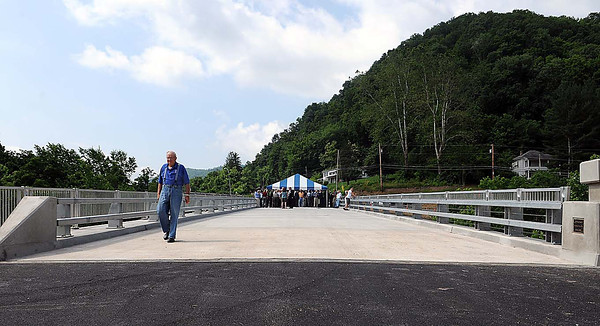 The first bridge of the New River Parkway in Hinton was completed, the Parkway will connect Hinton with I-64, along the New River. F. Brian Ferguson/The Register-Herald