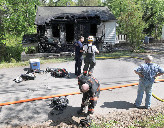Beckley Fire Department responded to a house fire on Quarry Street on Tuesday afternoon. F. Brian Ferguson/The Register Herald