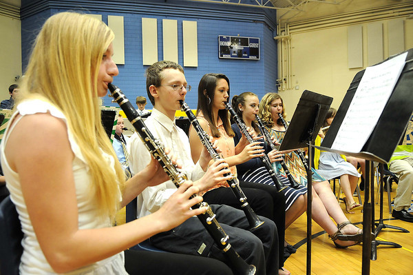 Shady Spring Middle school Band was the recipient of $30,000 worth of instruments two years ago from VH-1's Save the Music. <br /> Rick Barbero/The Register-Herald