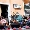 F. BRIAN FERGUSON/THE REGISTER-HERALD=The Raleigh County Rounders played live music during Saturday's Grand Opening of the White Oak Depot Artisan Gallery and Heritage Center.