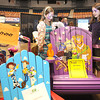 Beckett Mills, 6, left, and Maya Mills, 9, check out a display during the Raleigh County Chamber of Commerence business show held at the Beckley-Raleigh County Convention Center.<br /> Rick Barbero/The Register-Herald