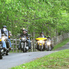 Bikers entering Daniels Vineyard on Twin Oaks Road in Crab Orchard, participating in the Ride for the Red-Southern West Virginia Tour, a motorcycle fundraiser aimed at benefiting the vital programs and services offered by the American Red Cross West Virginia Region.<br /> Rick Barbero/The Register-Herald