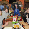 Paula Shrewsberry, account manager Beckley Newspapers, center, entertains, Lina Stover, left, Cecylia Lafferty, Cheryl Basham and Jaime Harper at El Mariachi mexican restaurant in Beaver during Celebrity Night. <br /> Rick Barbero/The Register-Herald