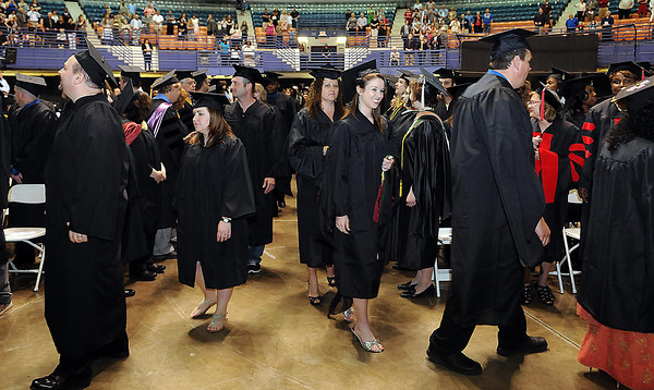 New graduates fill the hall during U.C. Beckley's first graduation ceremony on Saturday at the Beckley-Raleigh County Convention Center. F. Brian Ferguson/The Register-Herald
