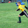 Ryan Vaughn of the NGYSL Spartans of Greenbrier County gets ready to kick a goal during Saturday's Little General Darrell Moore Memorial Soccer Tournament at the YMCA Paul Cline Memorial Youth Soccer Complex. F. Brian Ferguson/The Register Herald
