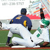 Isaac Ballou, of Marshall, slides save into second base during game against WVU at Linda K. Epling Stadium in Beckley Tuesday night.<br /> Rick Barbero/The Register-Herald