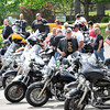 Group of bikers park at Daniels Vineyard for the Ride for the Red-Southern West Virginia Tour, a motorcycle fundraiser aimed at benefiting the vital programs and services offered by the American Red Cross West Virginia Region.<br /> Rick Barbero/The Register-Herald