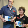 Burt Wilkerson and Beverly Farrish, winners of a vacation give away.<br /> Rick Barbero/The Register-Herald