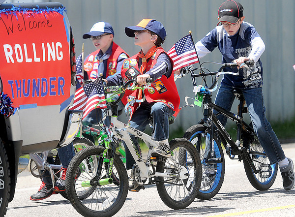 The Rolling Thunder of the future peddled their bikes down the main drag on Saturday during the Rainelle Veterans Reunion parade.F. Brian Ferguson/The Register-Herald
