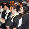 """F. BRIAN FERGUSON/THE REGISTER-HERALD=Appalachian Bible College graduates sing """"Great Is Thy Faithfulness"""" during the school's Commencement Program on Saturday morning."""