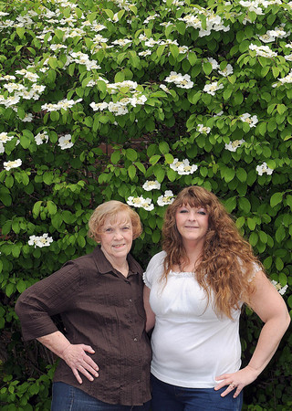 Marye Rhodes, left, and daughter, Missy Omar F. Brian Ferguson/The Register-Herald