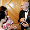 Jerry Rose greets students, both past and present, during Beckley Dance Theatre's 50th Anniversary celebration on Thursday evening at Tamarack. F. Brian Ferguson/The Register-Herald