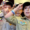 Boy Scouts were on hand to lead the Pledge during the 25th year during Thursday's Run for the Wall Event. F. Brian Ferguson/The Register-Herald