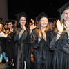 Graduates clap during New River Community & Technical College commencement ceremony held at the Chuck Mathena Center in Princeton.<br /> Rick Barbero/The Register-Herald