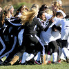 The Winfield Lady Generals celebrated their win over Washington in the AAA Girls State Championship Soccer game on Saturday in Beckley. F. Brian Ferguson/The Register-Herald